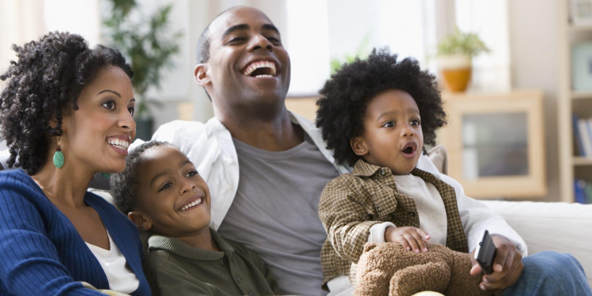black family happy